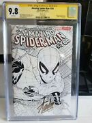 Cgc Ss 9.8 Amazing Spider-man 700 White Pages Stan Lee Sketch Var. Gold Sign