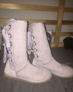 Uggs Heirloom Lace Up Corset Boots Lavender Women's Size 7