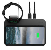 Nomad Base V2.0 Wireless Pad Qi Charger 3x10w W/apple Watch Dock - New Edition