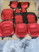 Custom Black And Red Interior Leather Seat Covers For 16-up Chevrolet Camaro Coupe