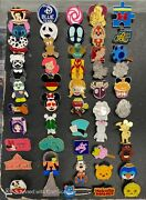 Official Disney Assorted 50 Pin Lot W/ Backs Disneyland Pins Mickey Minnie Mouse