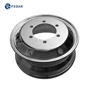17.5 X 6.75 Aluminum Wheels Metric 8 X 275 High Polished For Lowbed Trailers