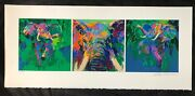 Leroy Neiman Elephant Triptych Limited Edition Serigraph