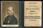 1888 N288 Buchner Police Inspectors Captains Fire Chiefs James Kenney 3034