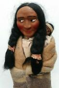 Large Vintage Skookum Native American Mother And Child Doll Circa 1930