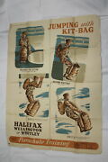 Ww2 British Canadian Raf Rcaf Training Poster For Parachute Troops Airborne Para