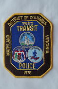 Us District Of Columbia Maryland Virginia Police Patch Obsolete