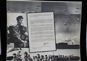 Ww2 British Airborne Polish D-day Glider Troops Commander Thank You Photograph
