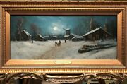 Fine Oil Painting By A Danish Artist 19th Century British Old Master Piece