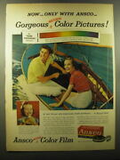 1950 Ansco Color Film Ad - Now - Only With Ansco - Gorgeous Natural Color