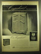1950 Capehart Ad - New Englander Television And Chippendale Phonograph-radio