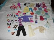 Lot Of Old Barbie Clothes And Accessories