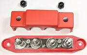 12v 250a 7 Point Bus Bar Power Post Junction Block 5/16 Red Positive