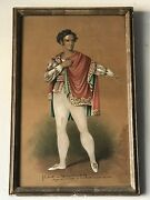 19th Century Antique Portrait Painting 1829 Old Italian French Mystery Artist