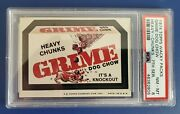1974 Wacky Packages Series 7 Tan Back Heavy Chunks Grime Dog Chow Graded Psa 8