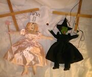 Wizard Of Oz Movie Puppet Marionettes Dorothy Glinda Witch Lion Land Of Oz Rare+