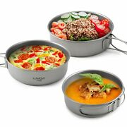 Kettle Bowls Pot Spatula Barbecue Grill Skewers Outdoor Camping Picnic Tableware