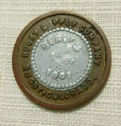 Rugby Colorado Co Mining Ghost Town 1901 Rugby Supply Bi-metal Token R-9