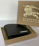 Bifold Wallet Grainy Leather House Check 100genuine Black Rrp350 Best