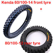 60/100-14 Front + 80/100-12 Rear Tire Tube Motocross Off Road Tires Yz65 Kx Sx