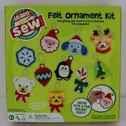 Learn To Sew And Decorate Kit 10 Christmas Felt Ornaments Colorbok Quincrafts New