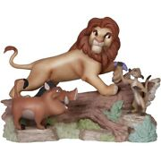 Precious Moments Disney The Lion King, Friendship Means No Worries 141705
