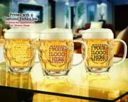 12+ Personalized Beer Mug - 20 Oz. Arc Brittania With Crest Dimpled Beer Mugs