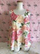 🌈ingni🌈used, Blouse, Polyester 100, M Size, Floral, Japan