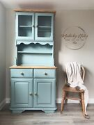 Sold Pine Glass Welsh Dresser Kitchen China Cabinet/cupboard/drawers/buffet