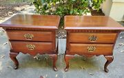 Local Pickup- Pair Sumter Cabinet Co Nc 2 Drawer End Tables Nightstands