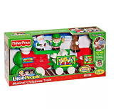 Fisher Price Little People Musical Christmas Train Santa, An Elf And A Reindeer