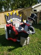 See Video Inflatable Airblown Animated Organ Skeleton Player Piano Halloween