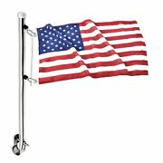 Marine City Boat Stainless-steel Adjustable Clamps Rail Mount Flag Staff Pole...