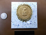 Dept Of Air Force - New Plaque Tile Award -gift W/gold Wreath + Insert Fast Ship