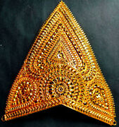 22k Gold Plated Indian Godand039s Crown 1 Pc Gorgeous God Head Jewelry 7and039and039height Aba2