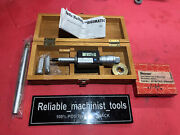 Mitutoyo Intrimik Bore Holtest Inside Micrometer .5 To .8 In W/2 Ring Machinist
