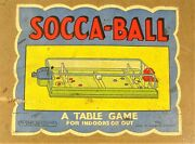Rare 1933 Antique Uk Socca-ball Lg Table Game Indoor Soccer Field Wood England