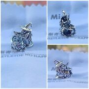 Original 925 Sterling Silver Scary Medicine Wizard Bead Halloween Charms Beads