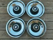 Vintage 1970and039s 75 76 77 Buick Electra Chrome Wheel Covers 15 Inch Hubcaps
