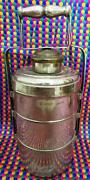 Antique Bronze Tribal Indian Folding Lunch Box Collectible Decorative Tiffin