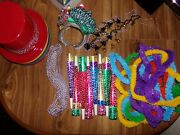 ✨ Starry Nights Happy New Year Party Supply Kit Top Hats Tiaras Horns