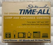 Vintage Intermatic Time-all Lamp And Appliance Timer Model E-911 In Original Box