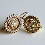 East India 14k Gold Diamond And Pearl Earrings Museum Of Jewelry