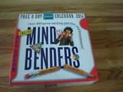 Mind Benders And Brainteasers Page-a-day Desk Calendar 2014 All Color New In Box