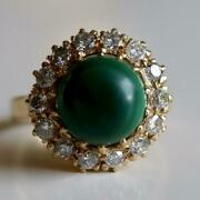 Catherine Parr 14k Gold Malachite And Diamond Ring Museum Of Jewelry