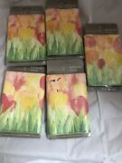 5 Rolls Tulips Home Trends Wallpaper Border New And Sealed