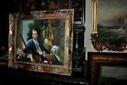 Museum Quality Vintage From The Late 60s Study Sporting/hunting Portrait