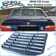 Bmw 3 Series E36 Coupe Rear Window Louver Abs Plastic Grills For Bmw 3