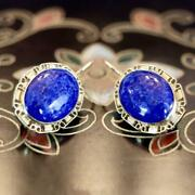 St. Albans 14k Gold And Lapis Earrings Museum Of Jewelry
