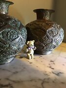 Qajar Pair Of Vases Urns Pair Of Persian Vases - Signed Simply Stunning And Rare